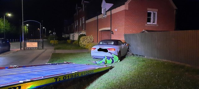 The Audi is recovered. Pic; Cambs police