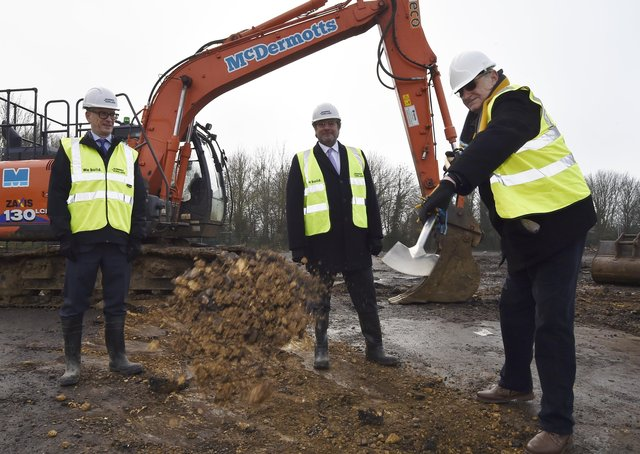Groundbreaking ceremony to mark the start of ARU Peterborough. The university could be one project to benefit from Levelling Up funding. EMN-200812-115739009
