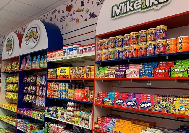 American Candy at the Queensgate Shopping Centre.