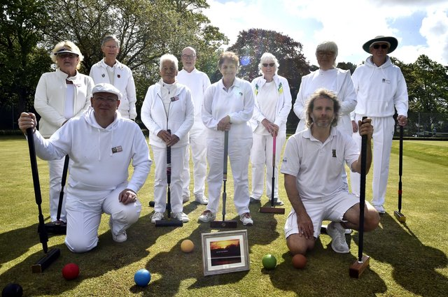 Peterborough and Northants croquet teams with (front) captains Paul Chard and Paul Hetherington EMN-210516-144439009