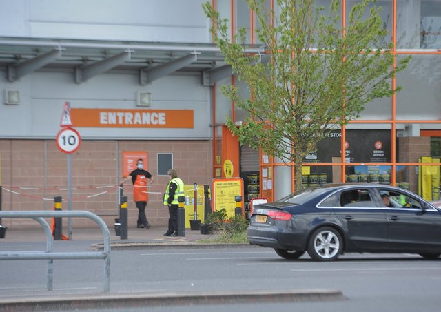 B&Q  closed for the day. Picture: David Lowndes