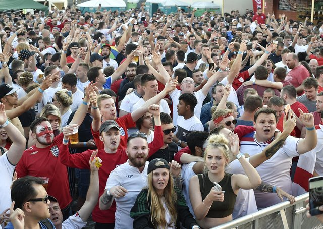 One of the Street Parties held at The Solstice  following England at the 2018 World Cup.