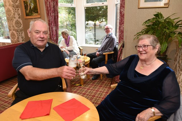 Frances (75) and Alec (71) Bigley celebrating their 50th anniversary at the Peterborough Conservative Club.