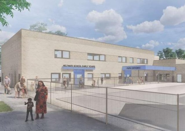 An artist's impression of the new school building