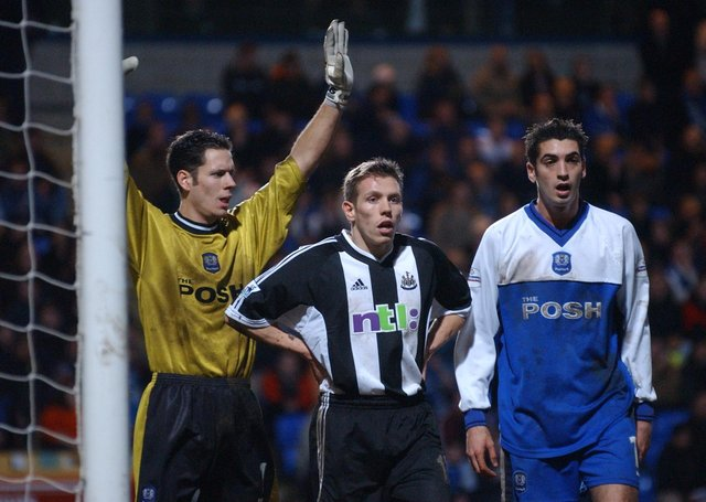 Posh played Newcastle United in a famous FA Cup tie in 2002. Newcastle won a thriller 4-2 at London Road.