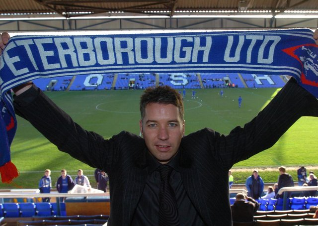 Darren Ferguson on the day he was first appointed Posh manager in January, 2007.