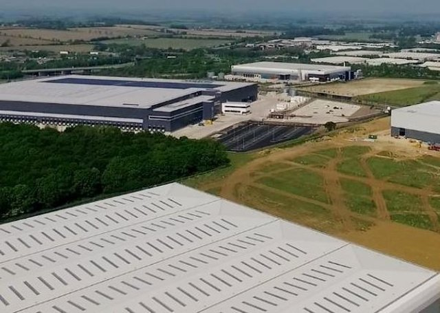 Aerial view of new factories going up at Alwalton Hill. EMN-200905-170529009