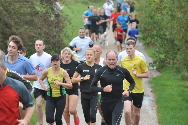 Runners taking part in the Peterborough Park Run at Ferry Meadows pictured in 2014.