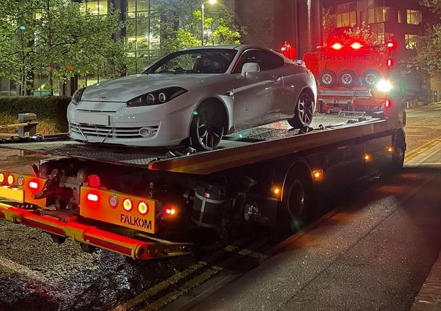 The seized car