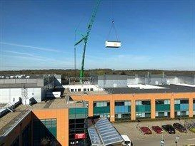 The modular build was lifted into place by a 122 tonne crane