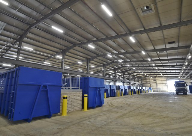 The Peterborough City Council household waste recycling centre at Fengate. EMN-190215-142211009