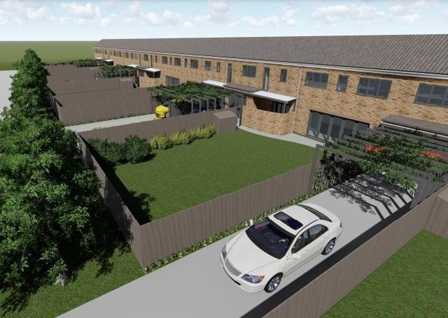 A 3D image submitted as part of the planning application