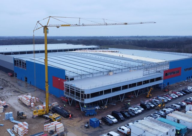 McCormick's manufacturing hub at Peterborough Gateway is taking shape.
