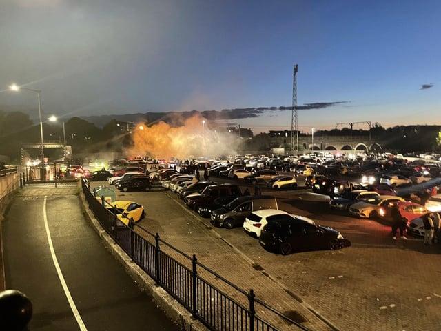 The scene at Fair Meadows Car Park at the weekend