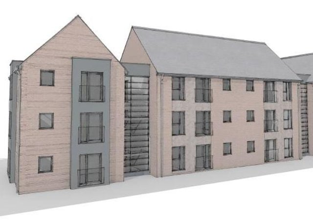 This image shows how the proposed apartments will appear once completed.