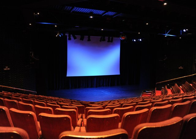 The Key Theatre stage ready for the Silver Screen series