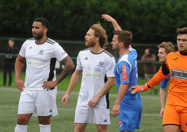 Rene Howe and Craig Mackail-Smith played for Bedford at Yaxley last season.