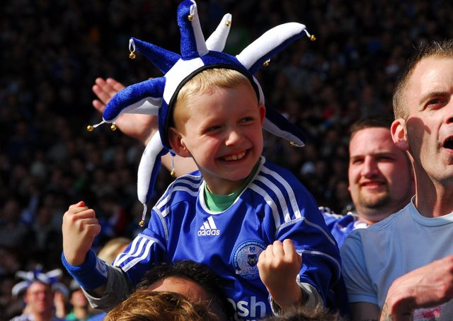 This youngster enjoyed the Posh victory.