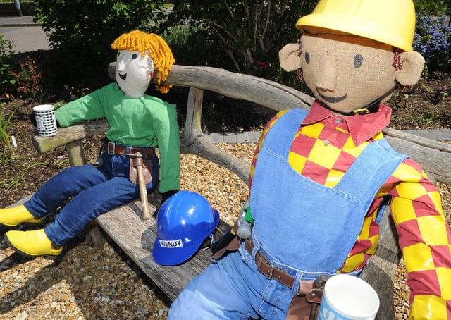 Scarecrow Festival at Werrington.  Bob the Builder in Salisbury Road EMN-210529-155058009