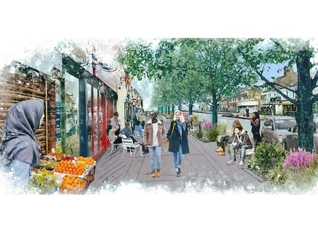 An artist's impression of how Lincoln Road could look after improvements are made