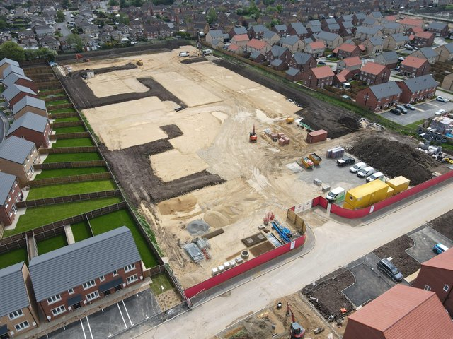 Work is progressing at the site
