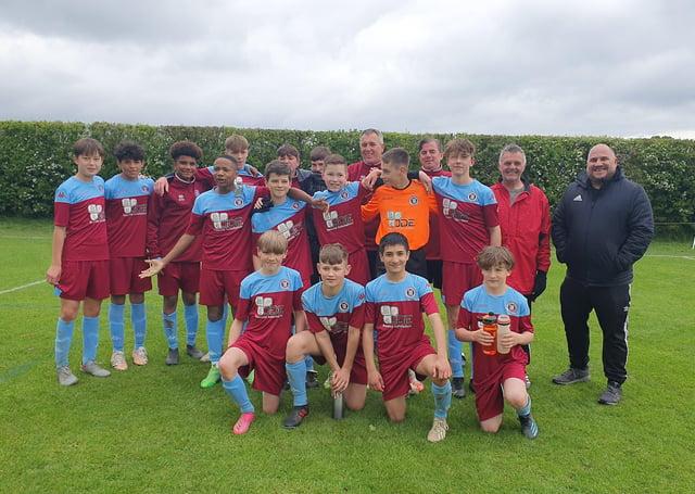 The title-winning Thorpe Wood Rangers Under 13 squad.