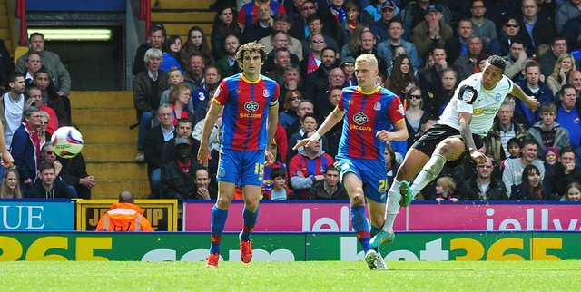 Nathaniel Mendez-Laing scores a superb goal for Posh at Crystal Palace on the final day of the 2012-13 season.