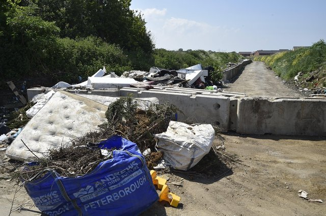 The recently dumped rubbish