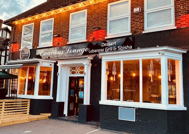 Brad Barnes dines at Creations Lounge in Burghley Road