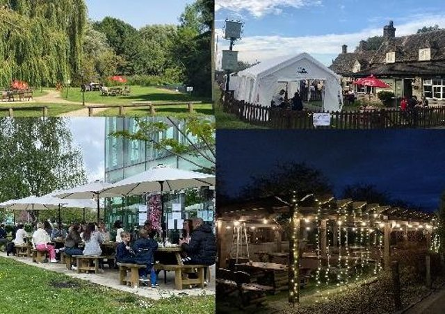 Places to eat and drink outdoors in Peterborough