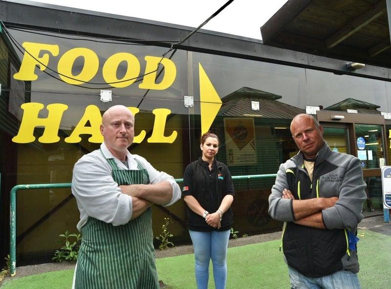 Phil Woodland, Sandra Jose and Steve Wetherill at Peterborough City Market