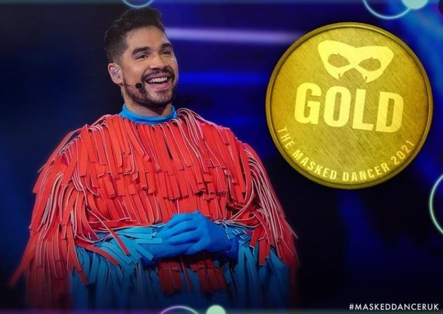 Peterborough's Louis Smith wins The Masked Dancer. Picture: ITV/The Masked Dancer