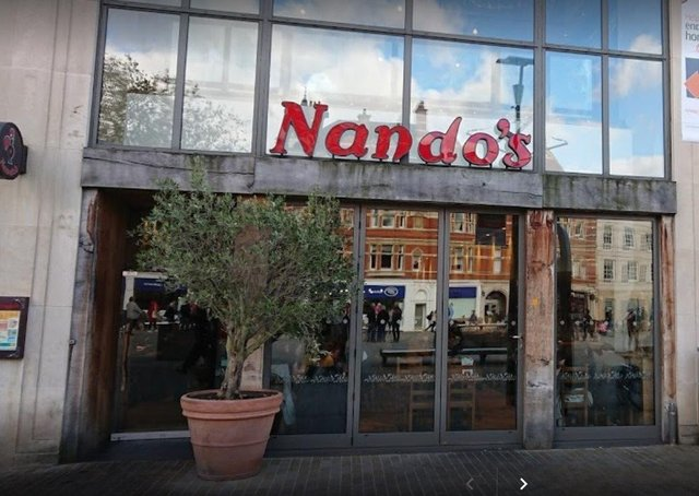 Nando's in Cathedral Sqaure.