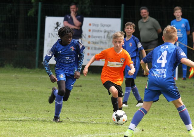 Action from ICA Sports v Thurlby Tigers in the Under 12 Hereward Cup Final. Photo: RWT Photography.