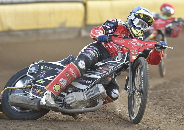 Scott Nicholls on his way to a paid maximum for Panthers against King's Lynn Stars. Photo: David Lowndes.