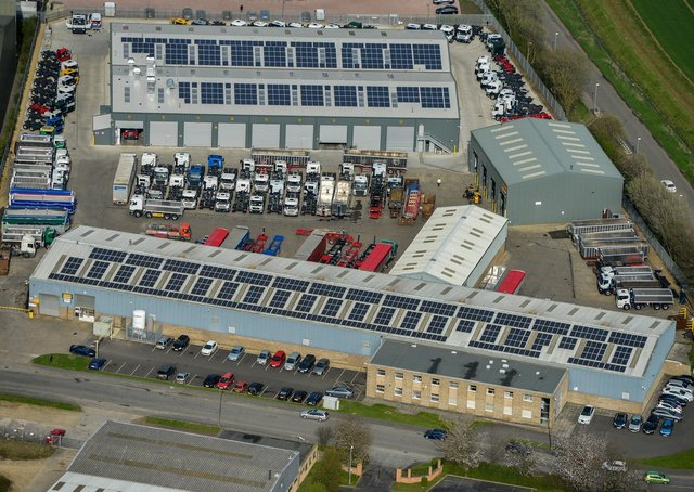 An aerial view of the Wilcox Comercial Vehicles' site in Market Deeping. KKFcdxOjQ3V2HjJQiU7a