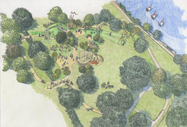 An artist's impression of the new play area
