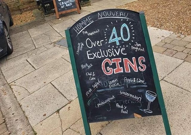 It's World Gin Day -  at Homme Nouveau in Whittlesey's Market Place.