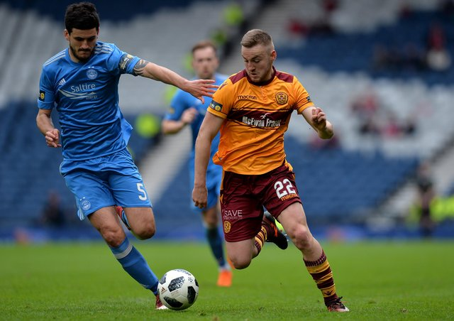 Allan Campbell (right) in action for Motherwell. Photo: Mark Runnacles Getty Images.