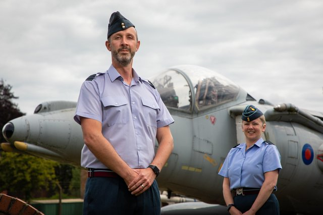 Wing Commander Jez Case and Group Captain Jo Lincoln.