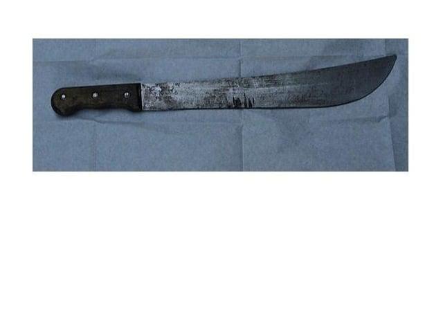 The seized knife