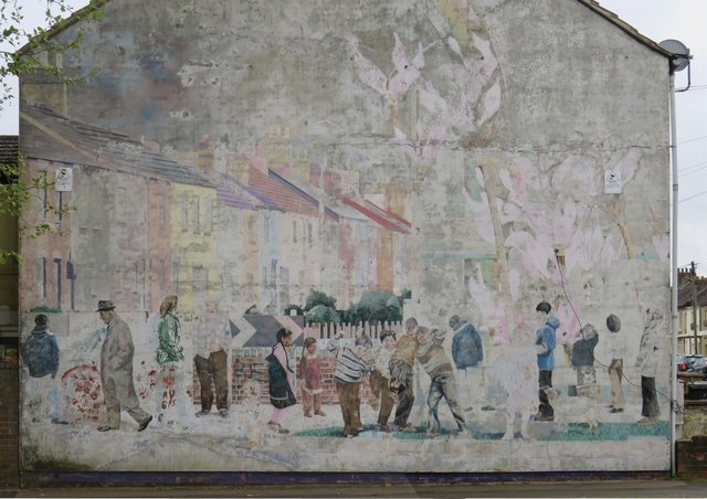 The Link Road mural which is to be restored
