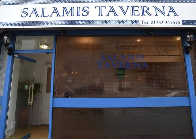 Brad Barnes dines at  Salamis Taverna, Broadway, Peterborough