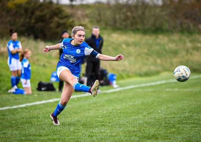 Posh Girls Under 16s in action. Photo: James Richardson.