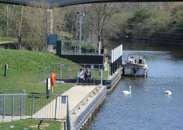 River Nene at Orton Mere.