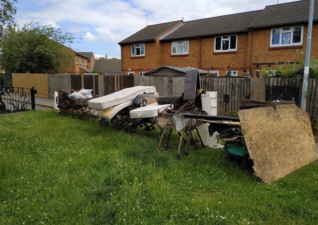 All of the rubbish removed from the Fletton Lakes area.