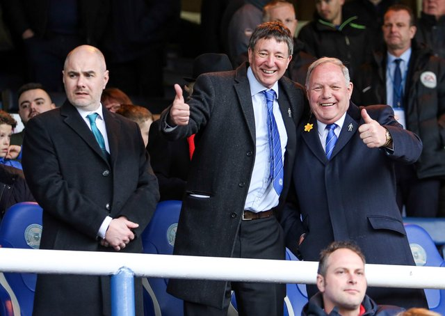 Peterborough United Director of Football Barry Fry  with Co-Owner Dr Jason Neale in the stands.