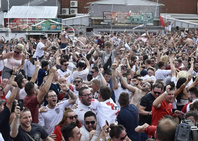 One of the outdoor events following England at the 2018 World Cup
