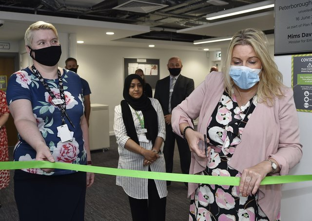 Opening of the new Job Centre at Northminster House, Peterborough by Employment Minister Mims Davis. EMN-210616-160058009