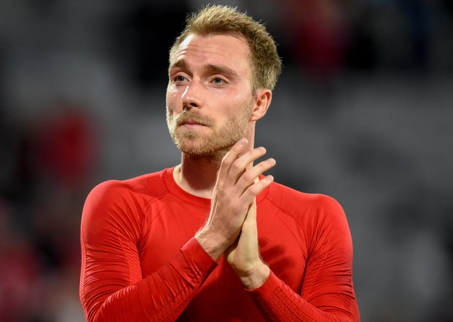Danish player Christian Eriksen who collapsed at the Euros Photo: Shutterstock